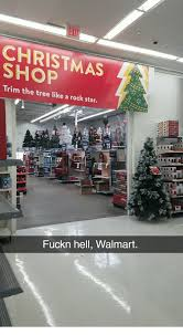 Christmas Walmart And Star EXIT CHRISTMAS SHOP Trim The Tree Like A Rock