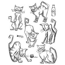 Show Details For Tim Holtz Cling Stamps Crazy Cats