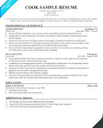 Sample Resume For Restaurant Prep Cook Plus Winsome Design Line Lead Examples
