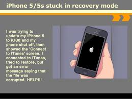 How to fix iPhone 5 5s stuck in recovery mode
