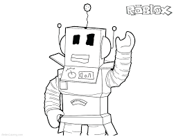 Roblox Coloring Pages Printable Robot Line Art Free Download