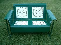 Veranda Metal Patio Loveseat Glider by Vintage Jr Bunting Glider Co Patio Furniture Set Gliders