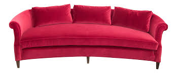 Drexel Heritage Sofas Sectionals by Drexel Heritage Dorothy Draper Sofa In A Luxe Red Velvet Fabric