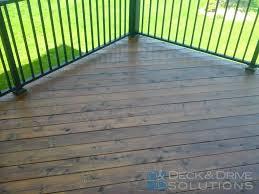 mission brown penofin on new cedar deck des moines deck builder