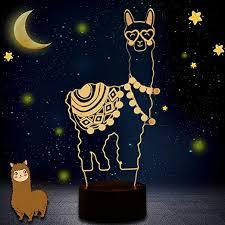 lama nachtlicht alpaka 3d led illusion tischle 7 farben ändern für schlafzimmer home decoration hochzeit geburtstag weihnachten und