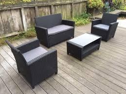 Walmart Resin Wicker Chairs by Cosco Outdoor Malmo 4 Piece Resin Wicker Patio Conversation Set