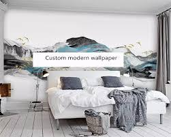 beibehang custom moderne neue abstrakte blau tinte landschaft malerei wohnzimmer schlafzimmer hintergrund papel de parede tapete