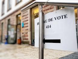 bureau de vote sign to bureau de vote stock image image of