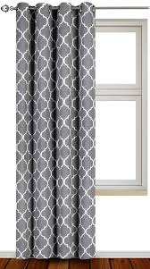 Geometric Pattern Grommet Curtains by Amazon Com Printed Blackout Room Darkening Color Block Grommet