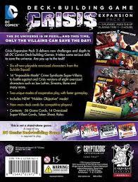 dc comics deck building game crisis expansion pack 3 cryptozoic