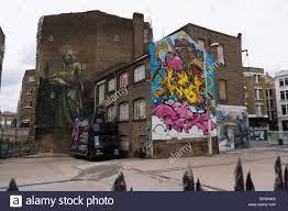 Famous Graffiti Mural Artists by Famous Graffiti Art In The London District Of Shoreditch London