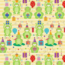 Happy Birthday Celebrate Frog Wrapping Paper