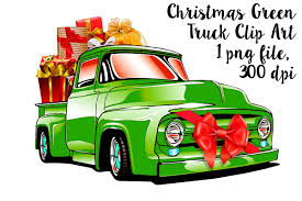 100 Truck Images Clip Art Christmas Green Retro Pick Up
