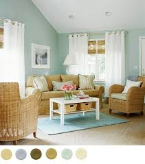 A Blue Tan And White Color Scheme Gives This Living Room Relaxing Feel More Schemes Interior Design 2012 Home
