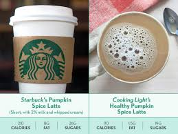 Low Fat Pumpkin Spice Latte by Pumpkin Spice Nutrition Showdown Comparing Our Recipe With