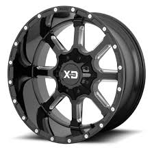 100 20 Inch Truck Rims KMC XDSERIES WHEELS XD838 MAMMOTH Gloss Black Milled Off