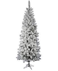 Flock Pacific Pine 75 White Trees Artificial Christmas Tree With Stand