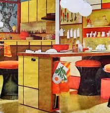 1960s Mod Pop Graphic Kitchen Vintage Interior Design Photo