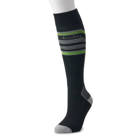 Columbia Thermolite Snowdrift Medium Weight Over-The-Calf Socks, Size: Large, Black