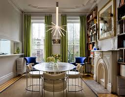 View In Gallery Add Green To The Dining Room With Some Delicate Drapes Design Fawn Galli