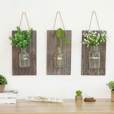 ländlichen wand vase holz hydrokultur wand hängende