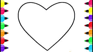 Heart Shape Coloring Pages Ice Pops Learn Colors For Kids Baby