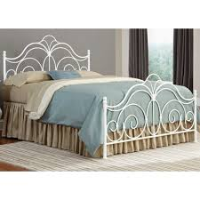 Rhapsody Iron Bed in Glossy White