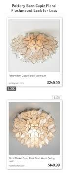 Pottery Barn Capiz Floral Flushmount Vs World Market Capiz Petal ... Remodelaholic Update A Dome Ceiling Light With Faceted Crystals Chandelier Globe Kitchen Pottery Barn Flooring Company Logo X Layout With Island Countertop Details Clarissa Round Glass Drop Flushmount Fixture Modniquepotteryrnbathroomlightingsemiflushmount Chandeliers Adele Full Image For Flush Mount Scolhouse Fixtures Ding Room Lowes