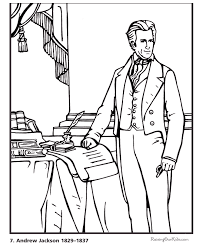 President Andrew Jackson Biography And Coloring Pictures