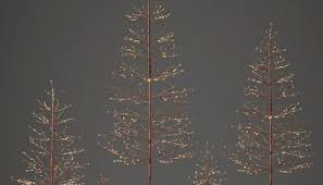 Miniature Christmas Trees Were Never So Chic Until Restoration Hardware Released Their Many Different Kinds The Starlit Tree Collection And Faux
