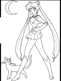 Lovely Sailor Moon Coloring Pages 34 On Seasonal Colouring With