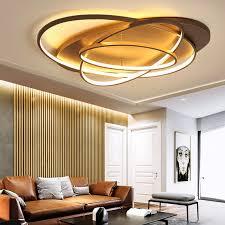neue kreative ringe moderne led deckenleuchte für wohnzimmer