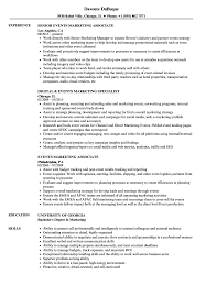 Download Events Marketing Resume Sample As Image File