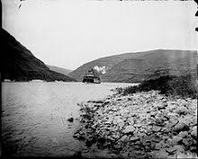 An Unidentified Steamboat Sails Up The Snake River In Either Washington Or Idaho 1898