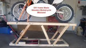 100 Truck Bed Motorcycle Lift DIY Home Made Wooden Lift Stand Table Under 20