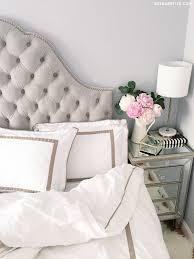 Bedroom Decor Tufted Velvet Headboard Mirror Nightstand One Kings Lane