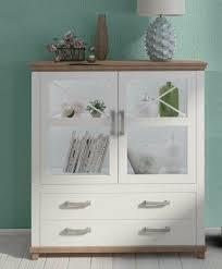 highboard vitrine wohnzimmer schrank weiß eiche ribbeck matt neu 31889160 ceres webshop