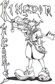 Kingdom Hearts Coloring Pages Free 2 Stained Glass