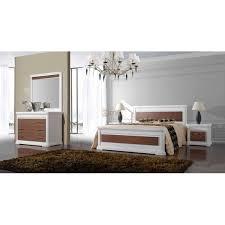 chambre bois blanc chambre adulte laque blanc et bois louisiane meubles elmo