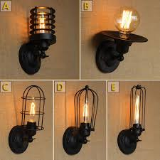 110 220v retro vintage industrial wall light edison wall mount