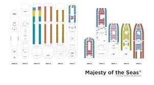 majesty of the seas deck plans royal caribbean international majesty of the seas kreuzfahrt