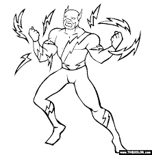 Captain Electric Coloring Page