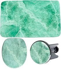 3 teiliges badezimmer set marmor grün set3marmor gruen