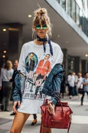 Tee And Bandana Jean Jacket 2017 Fashion Trends CasualFashion Style Street LookStreet
