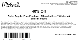 40% Off Entire Regular Price Purchase Of Recollections ... Pinned December 13th 50 Off A Single Item More At Michaels Promo Codes And Coupons Annoushka Code Black Friday 2019 Ad Deals Sales The Body Shop Coupon Malaysia Jerky Hut Electronic Where To Find Bed Bath Free Printable Coupons Online Flyer 05262019 062019 Weeklyadsus January 11th Urban Decay Discount Pregnancy Clothes Cheap Online How Use Canada Buy Sarees Usa Burlington Ma