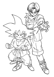 Dragon Ball Z Coloring Page Super Pages Free