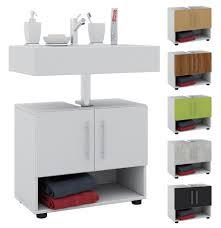 vcm bad unterschrank waschtisch waschbeckenunterschrank badunterschrank schrank möbel intola 51 x 60 x 30 cm badezimmer regal vcm badunterschrank