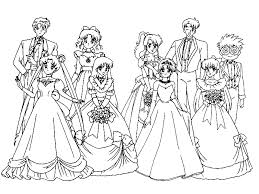 All Sailors In Wedding Dresses Coloring Page