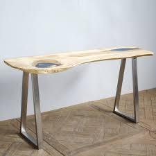 plateau de bureau en bois bureau bois design great bureau pice unique le plateau est