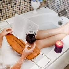 Bath Caddy With Reading Rack by Luxury Bamboo Bathtub Caddy U2013 Soothing Styles